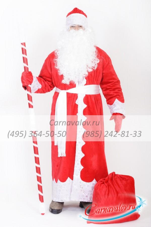 Купить недорогой Костюм Деда Мороза «Традиционный» в Москве  скидки ... 3a63bbc8fc8