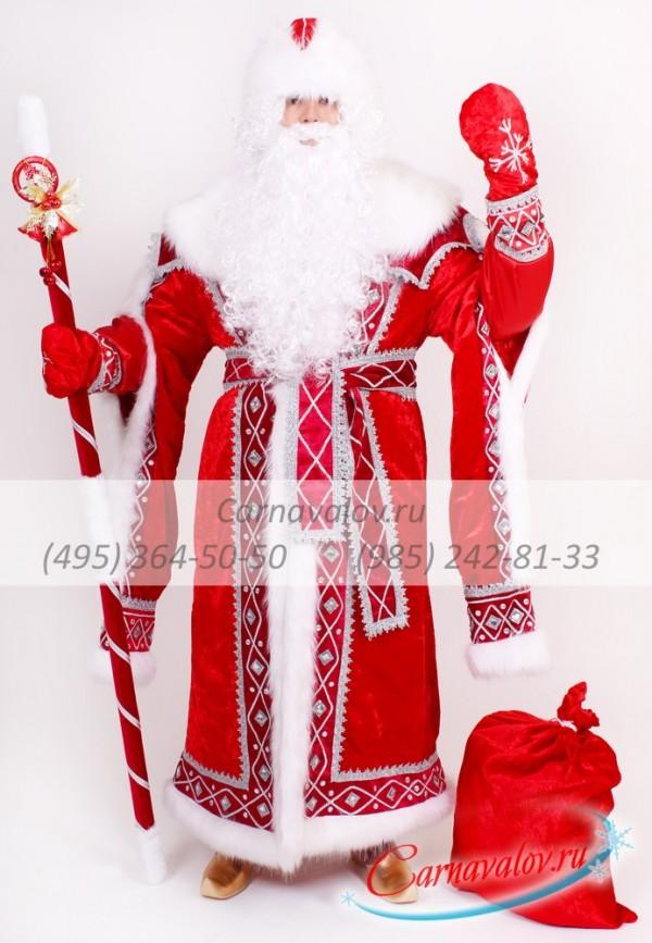 Купить недорогой Костюм Деда Мороза «Кремлевский - красный» в Москве ... f5cbbfe184b